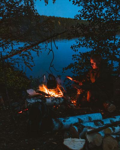 Autumn evening in karelia