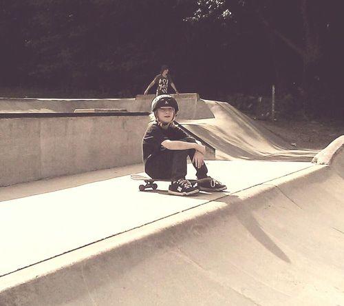 Its been a long day learning Skateboard Skateboard Park Childhood NewEyeEmPhotograph