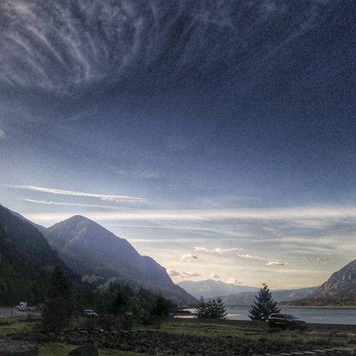 Cascadelocks Landscape Mountains Beauty Majestic River Columbiarivergorge