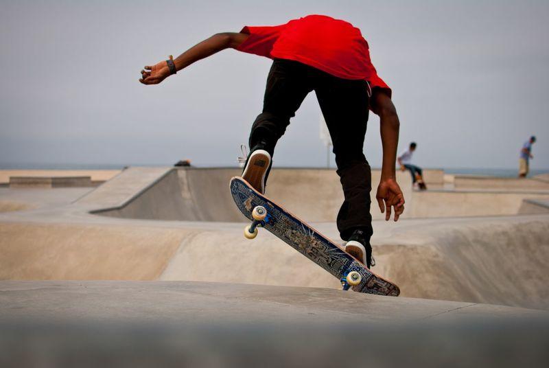 Skater in Venice Beach Skates Skateboarding Skater Boy Sports