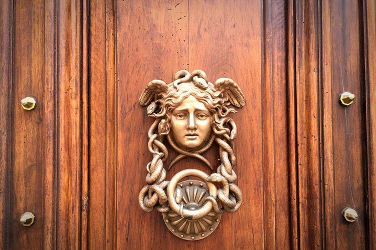 Door Handle Knob Intalian Luxury Medusa Golden Knop Fashion Architectural Detail