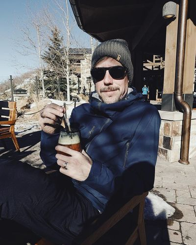 enjoying a bloody in the ☀️ at St. Regis. Utah Park City, Utah Deer Valley Resorts Wasatch Mountains Glasses Sunglasses One Person Real People Fashion Leisure Activity Lifestyles