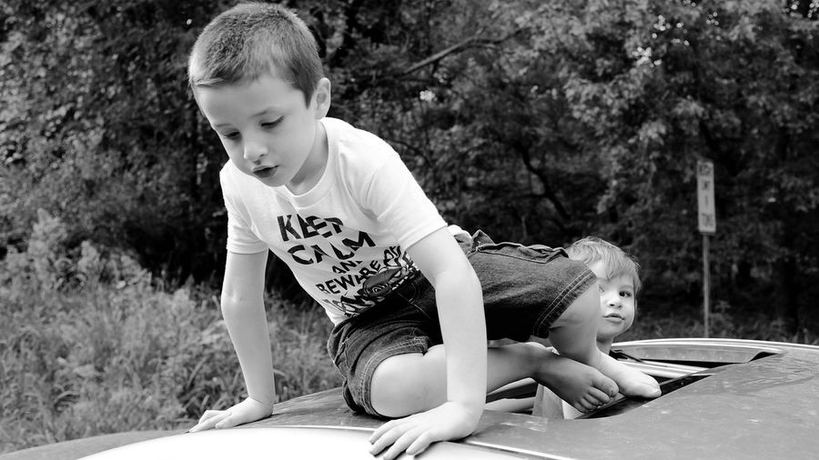 Sunroof Hanging Out End Of The Road Kids Being Kids Candid Moments Monochrome A Day In The Life Rural Exploration Family Time Off The Beaten Path Taking Photos Outsiderin