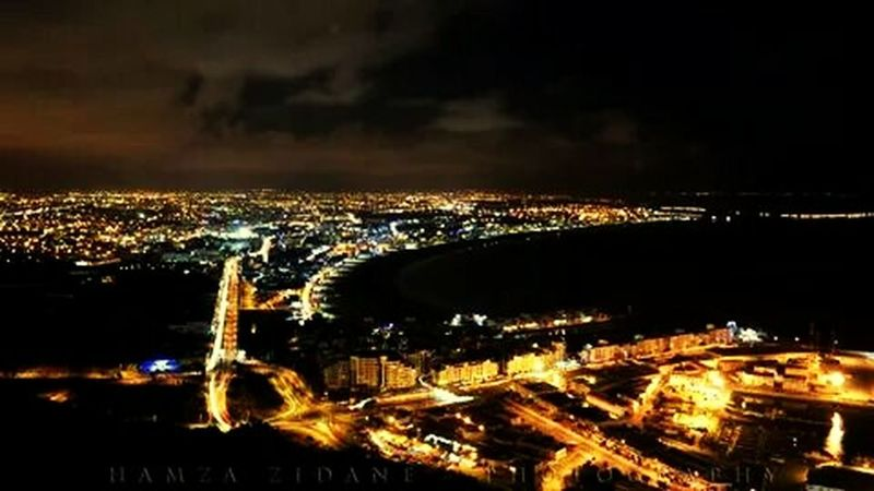 Cityscapes Night Lights Lumière Agadir Morocco Long Exposure