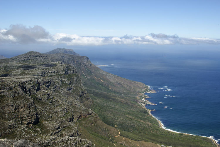 Amazing Landscapes of South Africa , Views of South Africa Scenics - Nature Beauty In Nature Tranquil Scene Sky Mountain Sea Tranquility Cloud - Sky Water Non-urban Scene Land Environment Nature Day No People Idyllic Landscape Horizon Outdoors South Africa Africa African African Beauty African Safari
