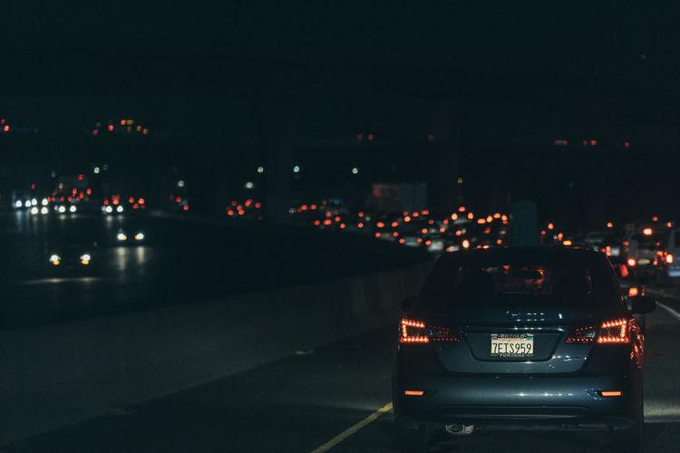 Architecture Car City Cityscape Illuminated Land Vehicle Mode Of Transport Night No People Outdoors Sky Speedometer Transportation
