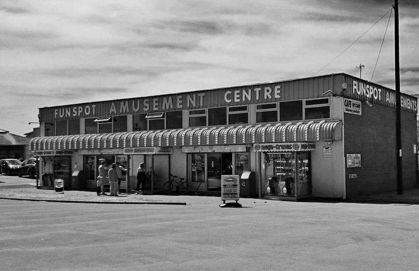 Funspot amusements, Hornsea Black And White Architecture East Yorkshire Hornsea
