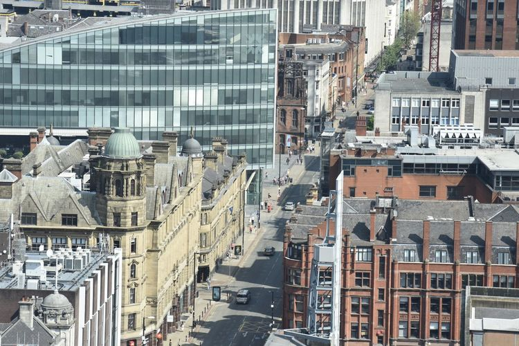City Life Cityscape Manchester The Architect - 2018 EyeEm Awards Architecture Building Building Exterior Built Structure Car City City Life Cityscape Day Eye4photography  Glass - Material High Angle View Mode Of Transportation Nature No People Outdoors Residential District Street Sunlight Transportation Window