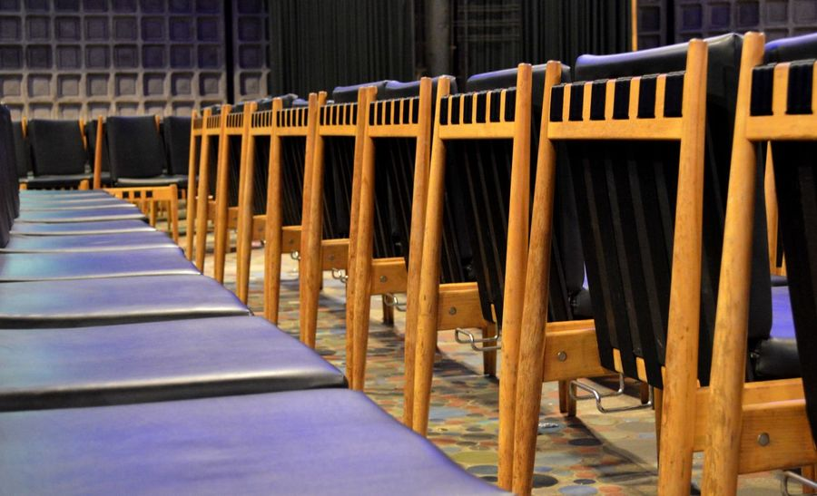 Architecture Arrangement Auditorium Chair Day In A Row Indoors  No People Wood - Material