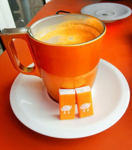 Coffee Time Coffee Orange Color Orange Sugar Cup Cup Of Coffee Showcase: February Relax Marseille Neon Color Neon Coffee Break Sugar Orange Sugar Saucer White Terrace Things I Like