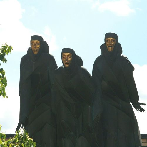 Vilnius Old Town Three Muses National Drama Theater Walking Around Travel Photography Lithuania