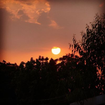 Sunset Evening Iith Feeling Pleasant