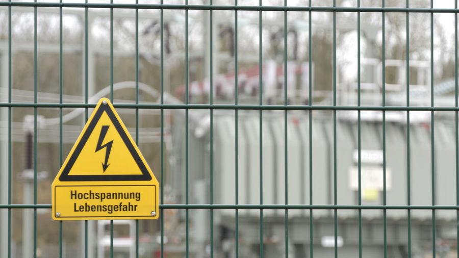 Information sign on railing
