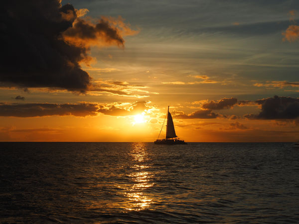 Sunset Sailing One Calm Freedom Beauty In Nature Cloud - Sky Horizon Over Water Nature Nautical Vessel No People Ocean Orange Color Outdoors Peaceful Reflection Sailboat Sailing Scenics Sea Silhouette Sky Sun Sunset Tranquility Water Waterfront