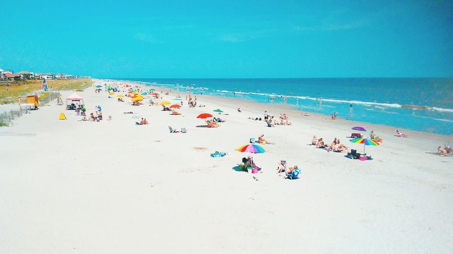 Folly Beach, SC Shoreline Folly Follybeach Bright Colorful Paradise Vacation Flamingo Relaxed Moments Seascape Coast Tide Low Tide Coastal Feature Sun The Mobile Photographer - 2019 EyeEm Awards The Great Outdoors - 2019 EyeEm Awards