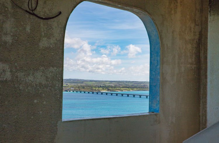 Holiday Okinawa Vacations Arch Architecture Beauty In Nature Blue Sky Built Structure Cloud - Sky Day Horizon Over Water Miyakojima Nature No People Outdoors Scenics Sea Sky Skyscape Summer Tranquil Scene Tranquility Turquoise Water Window