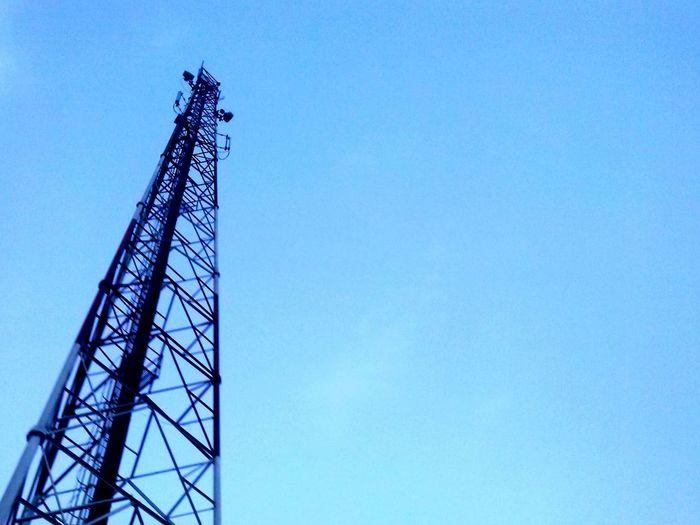 Cisaat Sukabumi INDONESIA Blue Sky Morning Tower Latepost Photography Lgl5