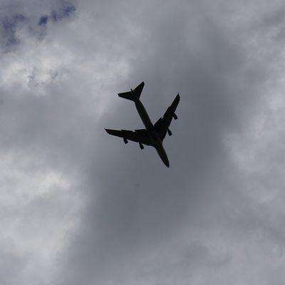 Airplane 747 Seoul Korea Flying