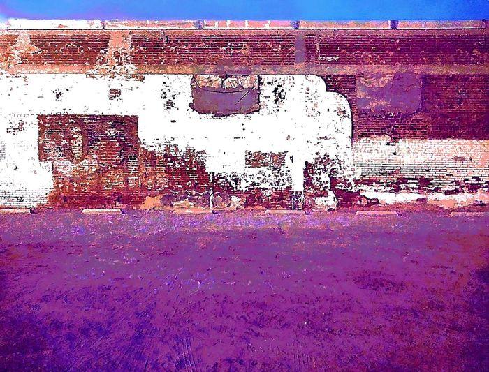 Gravel Vacantlot Vacant Lot Bricks Brickwall Brick Wall Brickwork  Wall Wallporn Dirt Pebbles Ground No People Outdoors #urbanana: The Urban Playground