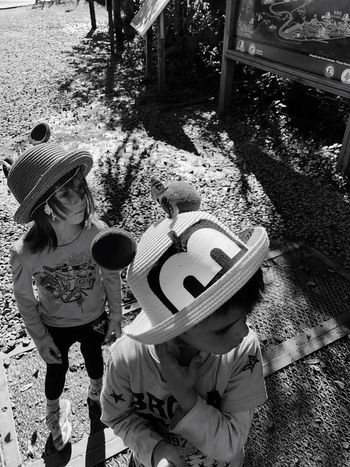 Hat Child Togetherness Childhood Two People Real People Clothing Females Girls Women Males  High Angle View Boys Day Leisure Activity Casual Clothing Family Men Brother Sister The Portraitist - 2018 EyeEm Awards