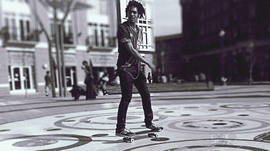 On board. Skateboarding Youmobile Black & White EyeEm