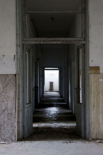 Architecture Indoors  Built Structure Corridor The Way Forward Day Architectural Column No People Photography Themes Tranquility Tranquil Scene Italy Sardiniaexperience Abandoned Buildings Hospital Abandoned Places AbandonedHospital Photographing Canonphotography Canon_photos Canon_official Canon60d Photographer Mypointofview EyeEmNewHere