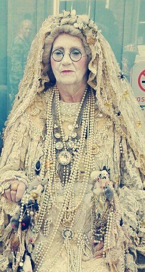 Dickens Festival Fancy Dress Old Lady Pearls