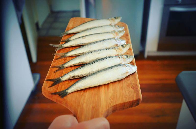 Sardine Fish Seafood Chopboard Food Food Preparation Life Cooking Cook At Home