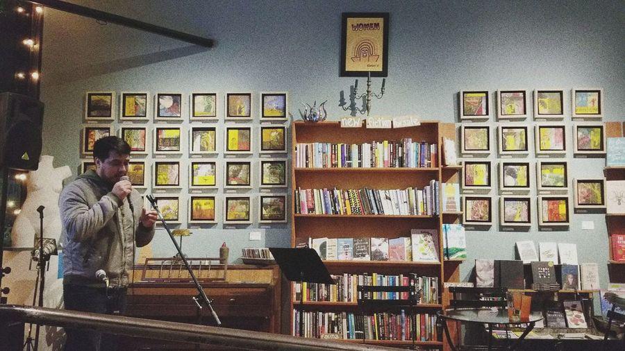 Openmic Poetry Rap HipHop Bookshelf Library Shelf Variation Men Book Store
