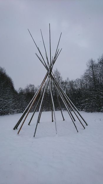 Coverless tipi. Winter No People Nature Outdoors Day Tipi Snow Wintertime Cold Winter ❄⛄