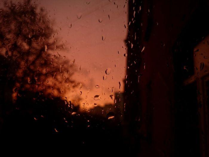 Sunset Rain Rainy Days Raindrops Sonyz1compact Sony Xperia