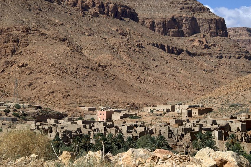 Ziz valley, Errachidia in Morocco. Morocco MoroccoTrip North Africa Africa Architecture Arid Climate Building Building Exterior Built Structure Day Environment Errachidia Formation History Mountain No People Rock Rock - Object The Past Travel Destinations Valley Ziz Ziz Valley