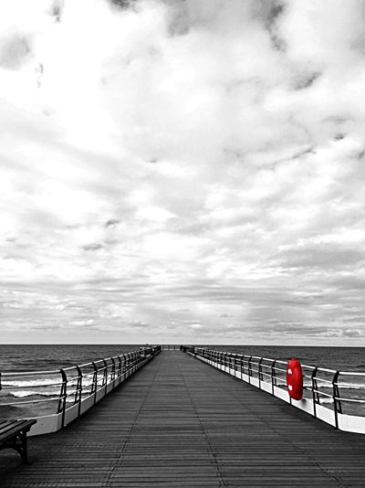 Pier Beachphotography Black & White Blackandwhite Photography Color Splash Coloursplash Wooden Pier From My Point Of View From Where I Stand