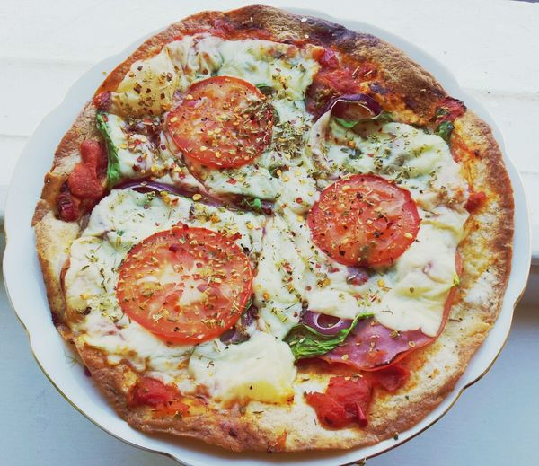Tortilla Pizza Lunch Cooking Healthy Food
