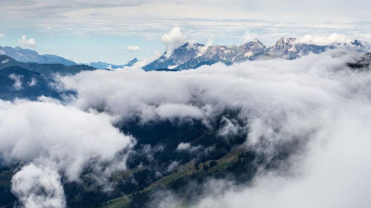 Berge Schlechtes Wetter Wolken Beauty In Nature Cloud - Sky Landscape Mountain Österreich