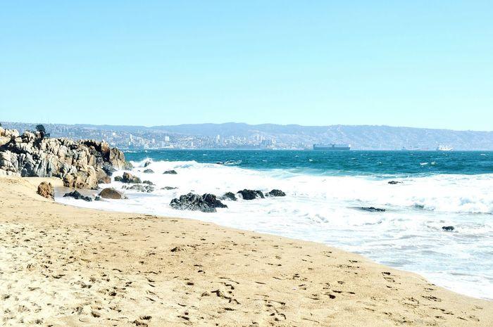 Paradise Beautiful Beach Peace ✌ Chile Viña Del Mar Reñaca 🌊🌞🌅🗻