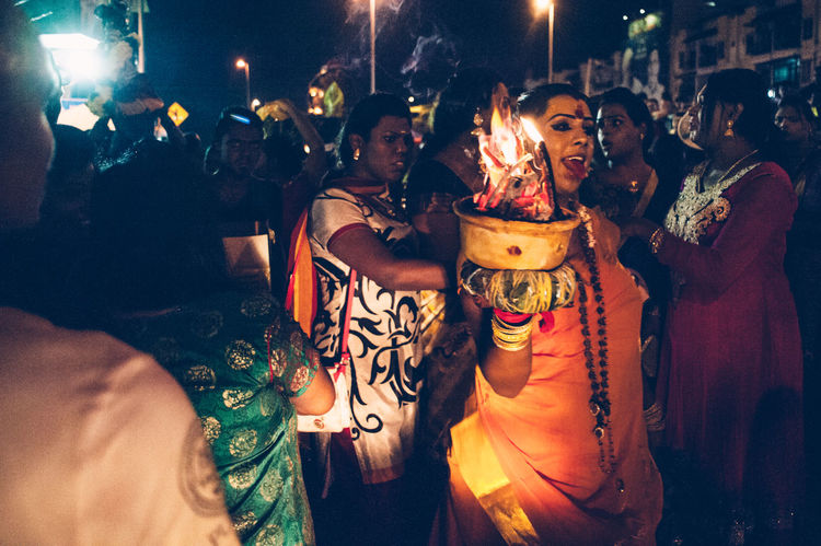 Arts Culture And Entertainment Casual Clothing Celebration Crowd Cultures Dancing Devotees Enjoyment Event Fun Hinduism Illuminated Large Group Of People Leisure Activity Lifestyles Medium Group Of People Night Nightlife Performance Religion Religious  Thaipusam2016 The Photojournalist - 2016 EyeEm Awards Tradition