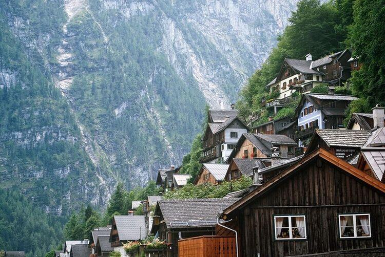 Hitchhiked to Bad Ischl then bussed to Hallstatt Travel Photography Austria Hallstatt Village