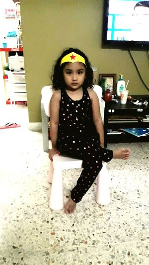 Uniqueness Niece  Wonderwoman Three Year Old Fun Playful Child Seremban Negeri Sembilan Malaysia