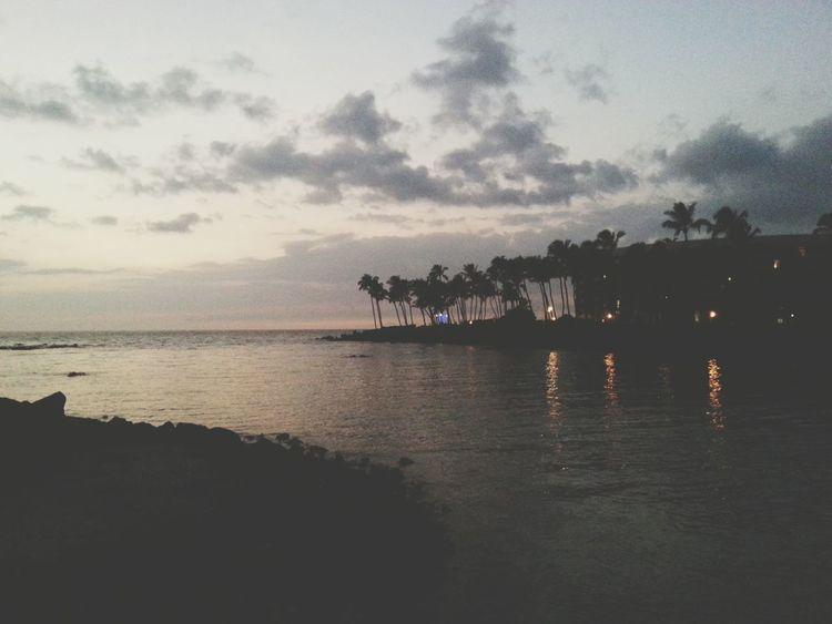 Relaxing Hawaii Sunset Hawaii Kona Kailua Beach Paradise Islandlife