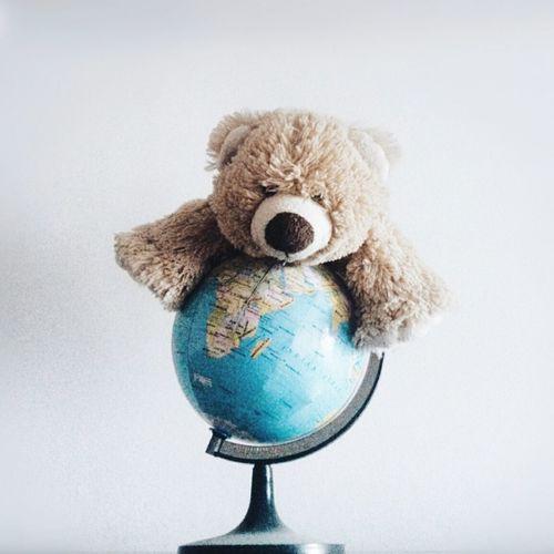 Showcase March TheWorldIsMine Teddybear White Background Earth Globe Bear Toy