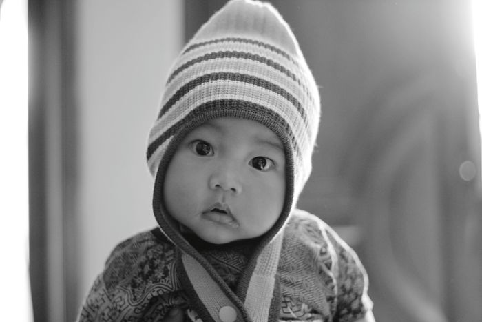 One Person Babies Only Innocence Baby Portrait Looking At Camera Cute Headshot People Front View Close-up Childhood Indoors  Day Human Body Part
