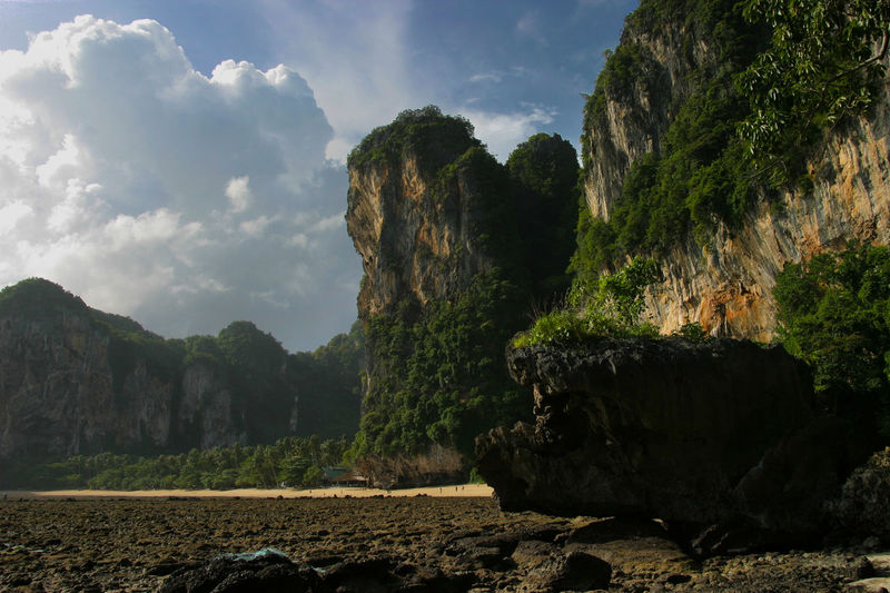 Railay Beach, Thailand Landscape_Collection Beauty In Nature Cliff Cloud - Sky Day Geology Krabi' Landscape Limestone Mountain Nature No People Outdoors Physical Geography Railay Beach Rock - Object Rock Formation Scenics Sky Tranquil Scene Tranquility Tree