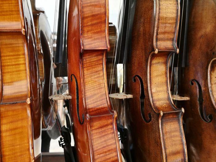 Full frame shot of violins