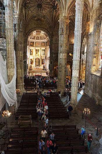 2015  Architecture Church Church Of Santa Maria Lisboa Lisbon Mosteiro Dos Jerónimos Portugal Religion Spirituality World Heritage サンタマリア教会 ジェロニモス修道院 ポルトガル People