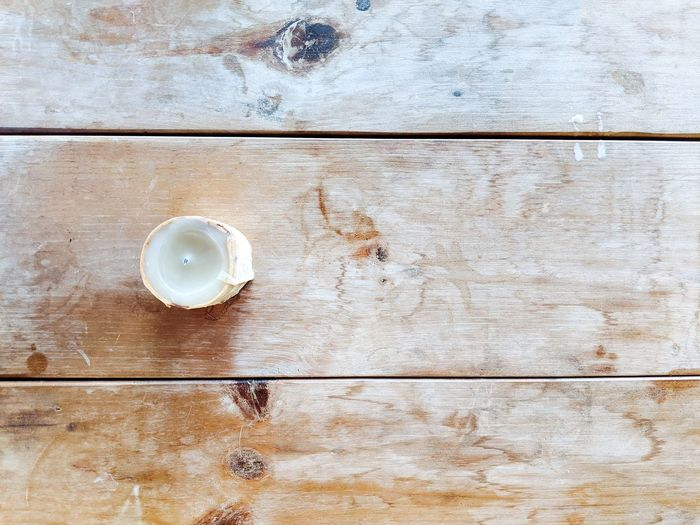 Directly above shot of drink on table