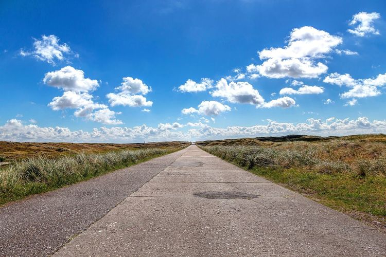 Road to Horizon Sky Cloud - Sky Nature Field Blue Tranquility Tranquil Scene Day No People Land Plant Beauty In Nature Scenics - Nature Landscape Agriculture Sunlight Rural Scene Environment Growth Outdoors The Great Outdoors - 2018 EyeEm Awards The Traveler - 2018 EyeEm Awards Road Direction The Way Forward Transportation Diminishing Perspective Nature Horizon vanishing point Summer Road Tripping My Best Photo