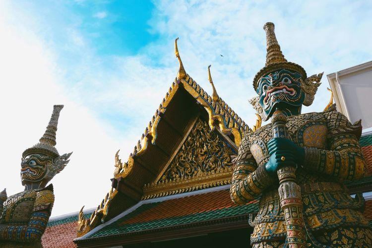 Wat Phra-kaeo, Bangkok Thailand Bangkok Religion Belief Place Of Worship Spirituality Architecture Built Structure Building Outdoors Sky No People