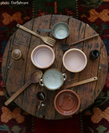 Mitrovic Kosovo Kosovska Mitrovica Traditional Eating Plates Spoons