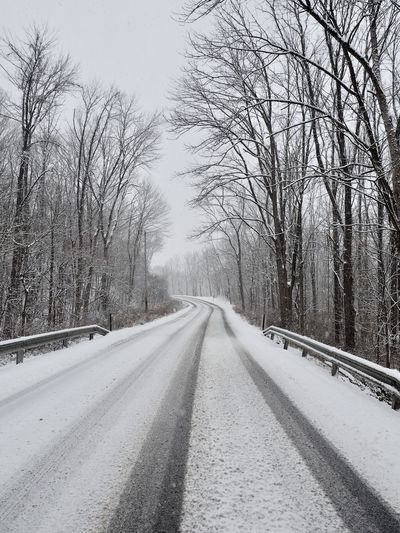 Winter Roadtrip Road Wintertime Landscape Naturelovers No People Snow Snow Covered Tranquility Winter Winter Wonderland